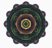 Surreal fractal 3D mandala Kids Tee