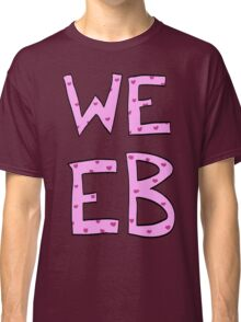 Pink Heart Weeb Graphic Classic T-Shirt