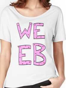 Pink Heart Weeb Graphic Women's Relaxed Fit T-Shirt