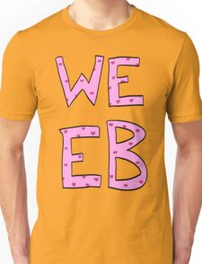 Pink Heart Weeb Graphic Unisex T-Shirt
