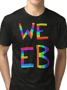 Rainbow Weeb Graphic Tri-blend T-Shirt