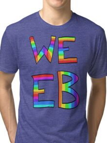 Rainbow Weeb Graphic Tri-blend T-Shirt