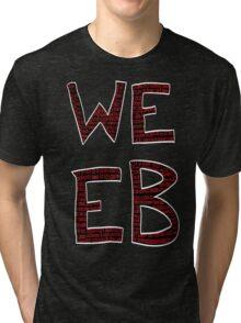 Red Binary Weeb Graphic Tri-blend T-Shirt
