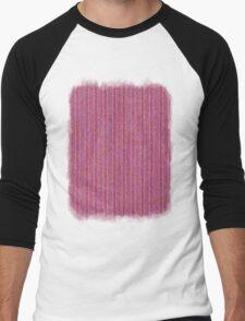Pink Roses in Anzures 1 Knit 2 Men's Baseball ¾ T-Shirt