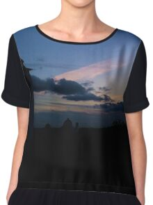 Sky and Architecture Chiffon Top
