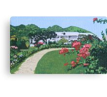 Villa in French St. Martin Canvas Print