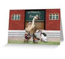 Back to School, my little ducklings! Greeting Card