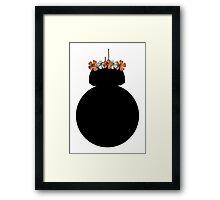 BB-8 Flower Crown Framed Print