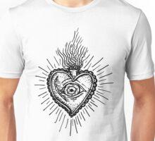 Sacred Heart Tattoo Style Unisex T-Shirt