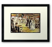 The Ball on the Shipboard Framed Print