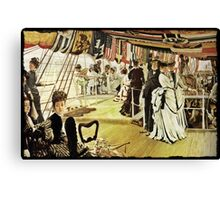 The Ball on the Shipboard Canvas Print