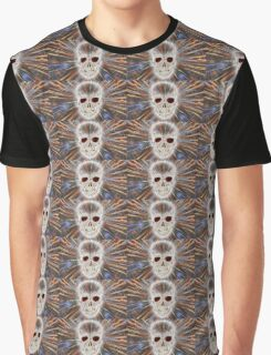 Skull and spiders web Graphic T-Shirt