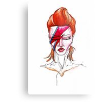 David Bowie Aladdin Sane Pin up Metal Print