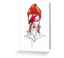 David Bowie Aladdin Sane Pin up Greeting Card