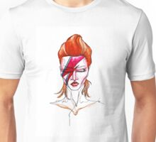 David Bowie Aladdin Sane Pin up Unisex T-Shirt