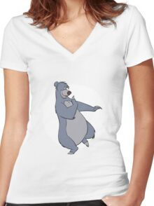 Baloo Women's Fitted V-Neck T-Shirt