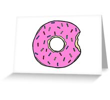 Frosted Donut Greeting Card