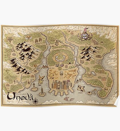 Unova Map Poster