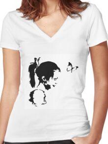 Little Sister Women's Fitted V-Neck T-Shirt