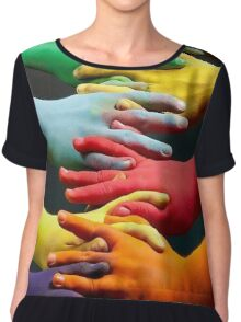 the hands of all the people Women's Chiffon Top