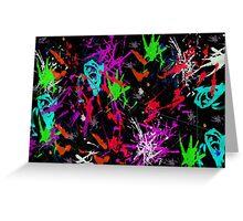 Graffiti Paint Splatter Greeting Card