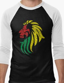 Lion Reggae Colors Cool Flag Vector Art  T-Shirt