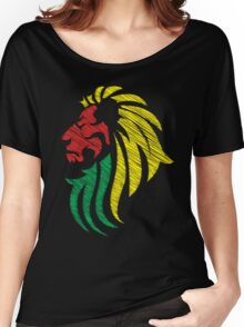 Lion Reggae Flag Colors  Women's Relaxed Fit T-Shirt