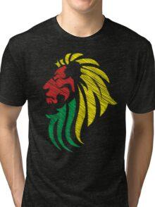Lion Reggae Colors Cool Flag Vector Art  Tri-blend T-Shirt