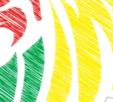 Lion Reggae Flag Colors  Sticker