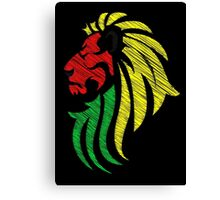 Lion Reggae Colors Cool Flag Vector Art  Canvas Print