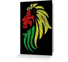 Lion Reggae Colors Cool Flag Vector Art  Greeting Card