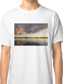 Boats and Clouds Summer Sunset Classic T-Shirt