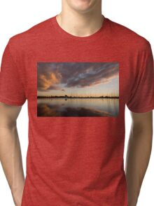 Boats and Clouds Summer Sunset Tri-blend T-Shirt