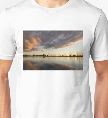 Boats and Clouds Summer Sunset Unisex T-Shirt