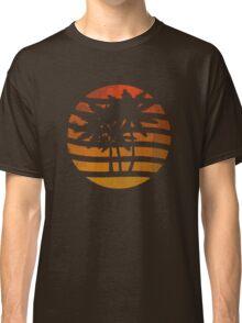 Palm Trees Grunge Sunset Classic T-Shirt
