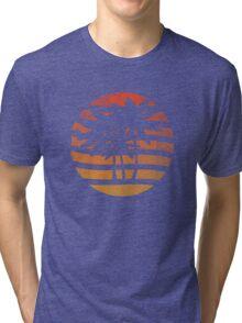 Palm Trees Grunge Sunset Tri-blend T-Shirt