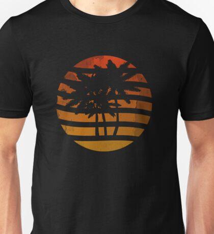 Palm Trees Grunge Sunset Unisex T-Shirt