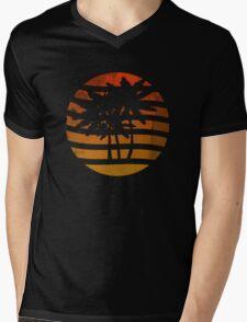 Palm Trees Grunge Sunset Mens V-Neck T-Shirt