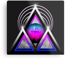"""Retro 80's Synthwave / New Retro Wave: Neon Nights (Without """"SynthWave"""" Logo) Metal Print"""