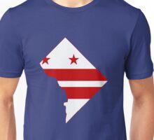 Washington DC Flag Map Unisex T-Shirt