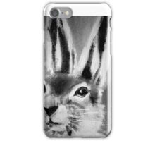 March Hare II Black and White iPhone Case/Skin