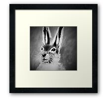 March Hare II Black and White Framed Print