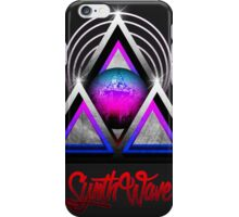 "Retro 80's Synthwave / New Retro Wave: Neon Nights (With ""SynthWave"" logo) iPhone Case/Skin"