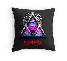 """Retro 80's Synthwave / New Retro Wave: Neon Nights (With """"SynthWave"""" logo) Throw Pillow"""