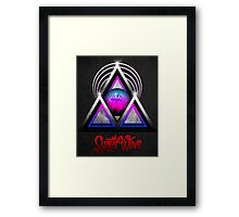 "Retro 80's Synthwave / New Retro Wave: Neon Nights (With ""SynthWave"" logo) Framed Print"