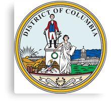 Seal of Washington DC Canvas Print