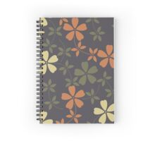 Elegant pattern with decorative flowers and leaves  Spiral Notebook