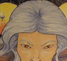 Hekate, Serpent Haired Sticker