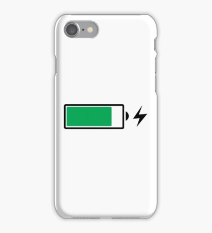 Battery Charging (B) iPhone Case/Skin