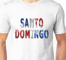 Santo Domingo Word With Flag Texture Unisex T-Shirt